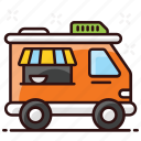 food, van, food shipping, food van, food transport, food delivery, street food icon