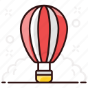 hot, air, weather balloon, parachute balloon, fire balloon, air balloon, hot air balloon icon