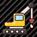 construction crane, excavator, industrial, industrial crane, lifting machine, port carne, renovation icon