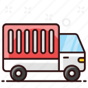 city truck, delivery, logistic truck, lorry, shipping transport, shipping truck icon