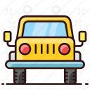 automobile, convertible jeep, jeep, quadro, quadro jeep, transportation icon