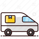 shipping, cargo, vehicle, delivery van, truck, shipping truck, shipment icon