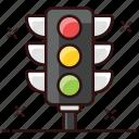 traffic signals, traffic lights, signal lights, traffic, traffic semaphore, signals, traffic lamps icon