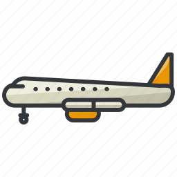 aeroplane, airplane, plane, transportation, travel icon