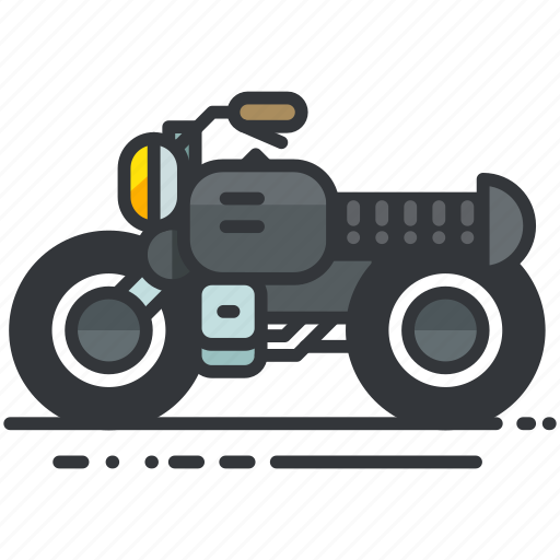 motorbike, motorcycle, transportation, vehicle icon