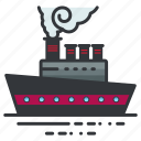 boat, ocean, sea, ship, transportation icon