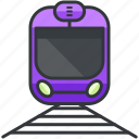 public, train, tram, transportation, vehicle icon