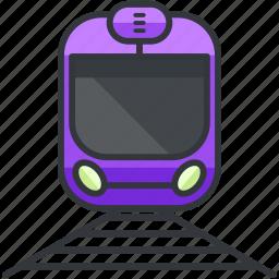 public, train, tram, transportation, vehicle icon