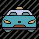 car, taxi, transportation, city