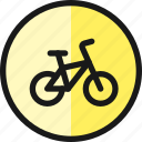road, sign, bicycles