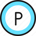 road, sign, parking