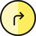 right, turn, road, sign