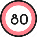 road, sign, speed, limit