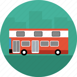 bus, coach, vehicle icon
