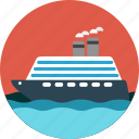 boat, cruise, ocean, sea, ship icon