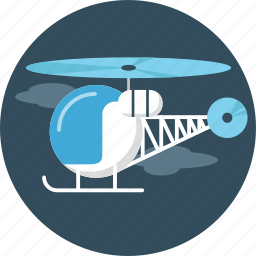 fly, helicopter icon