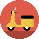 scooter, vespa, motorcycle, motrobike icon