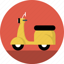 motorcycle, motrobike, scooter, vespa icon