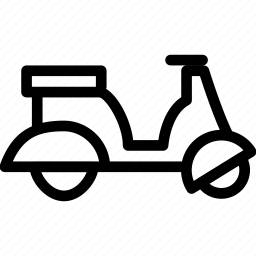 bike, creative, drive, grid, moto, motorbike, motorcycle, scooter, shape, transport, transportation, travel, vehicle, vespa icon