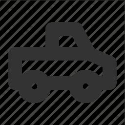 pickup, transp, transport, waggon, wagon icon