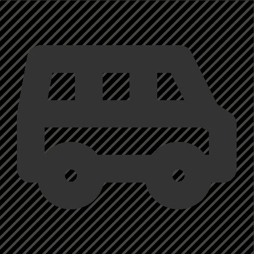 minibus, minivan, transp, transport, van icon