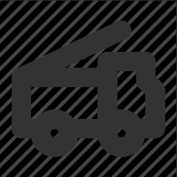 car, fire, fire truck, flasher, transp, transport, truck icon