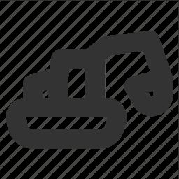 bulldozer, construction, excavator, transp, transport icon