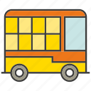 bus, car, transit, transport, vehicle icon