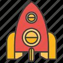 aerial, rocket icon