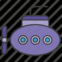 marine, submarine, underwater