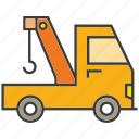car, crane, hook, truck, vehicle icon