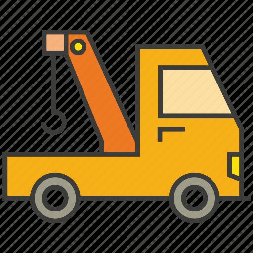 car, crane, hook, truck, vehicle icon