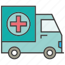 car, emergency car, health, truck icon