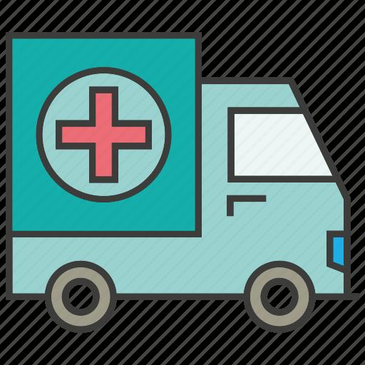 car, emergency car, health, truck icon