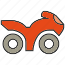 motor, motorcycle, ride, transport icon