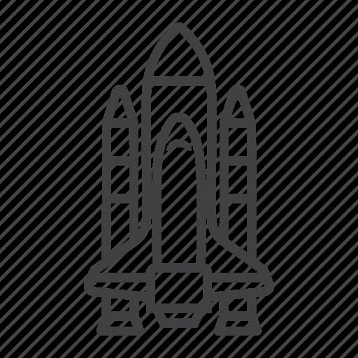 rocket, shuttle, space, spaceship, transport, transportation, vehicle icon
