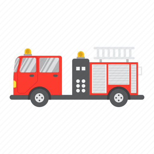 emergency, engine, fire, transport, transportation, truck, vehicle icon