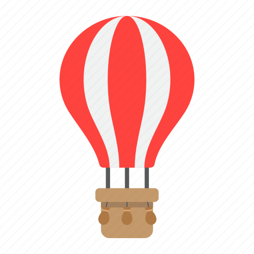air, balloon, flight, hot, transport, transportation, vehicle icon