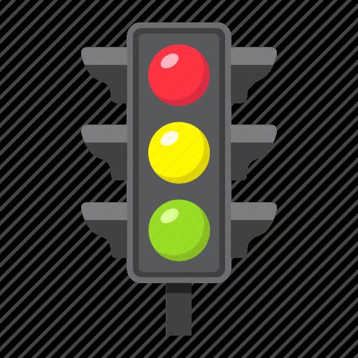 lamp, light, navigation, regulation, semaphore, stoplight, traffic icon