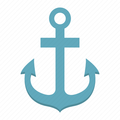 anchor, iron, nautical, naval, navigation, ship, sign icon