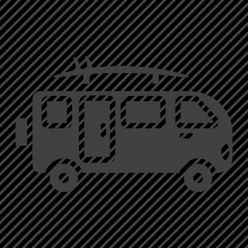 bus, camper, surfer, transport, transportation, van, vehicle icon