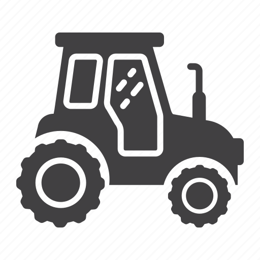 agriculture, farm, sign, tractor, transport, transportation, vehicle icon