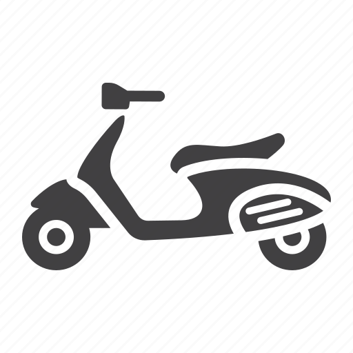 delivery, motor, motorcycle, scooter, transport, transportation, vehicle icon