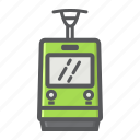 cable, railway, train, tram, transport, transportation, vehicle icon