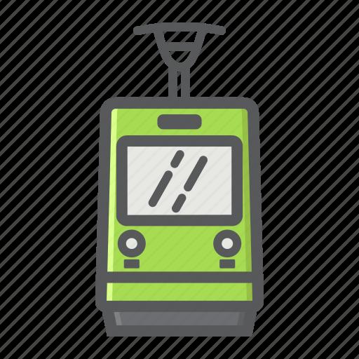 cable, railway, train, tram, transport, transportation, vehicle icon