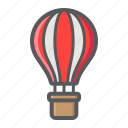 air, balloon, flight, hot, transport, transportation, vehicle icon