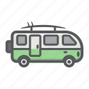 bus, camper, surfer, transport, transportation, van, vehicle icon