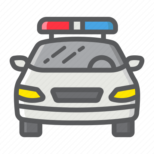 automobile, car, cop, police, siren, transport, transportation icon