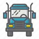 cargo, service, transport, transportation, truck, trucking, vehicle icon