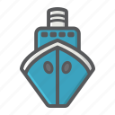boat, cruise, sea, ship, transport, transportation, vehicle icon